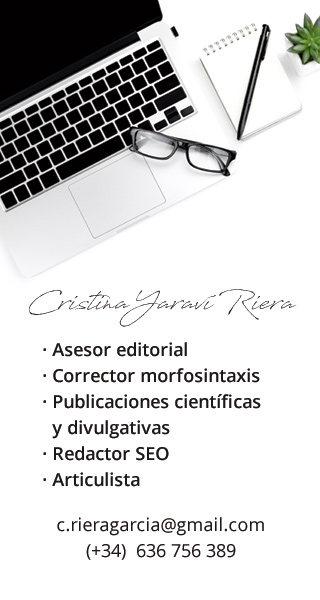 Cristina Yaraví Riera - Asesor editorial - Redactor
